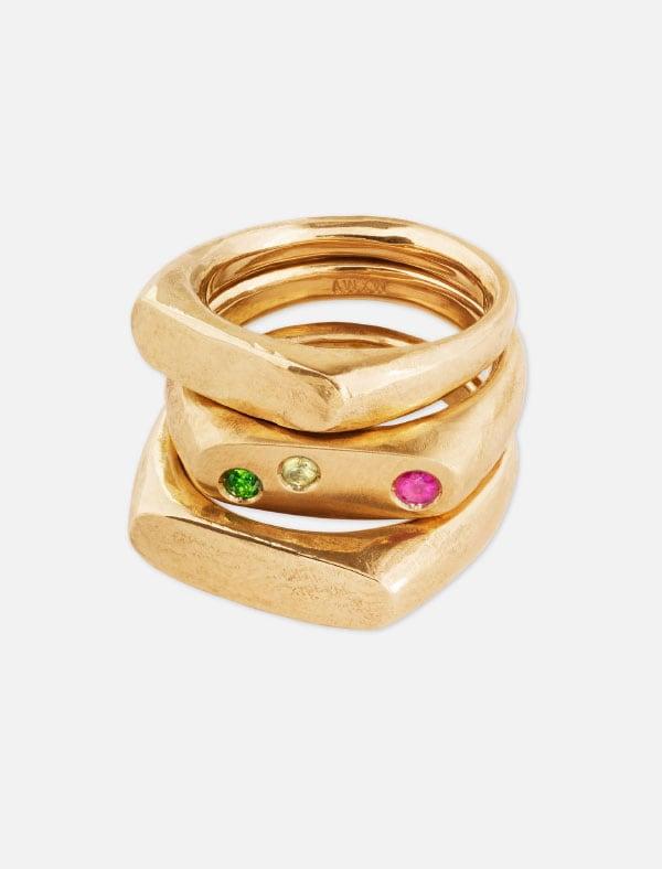 The Solomon Stone Ring Gold  – € 299