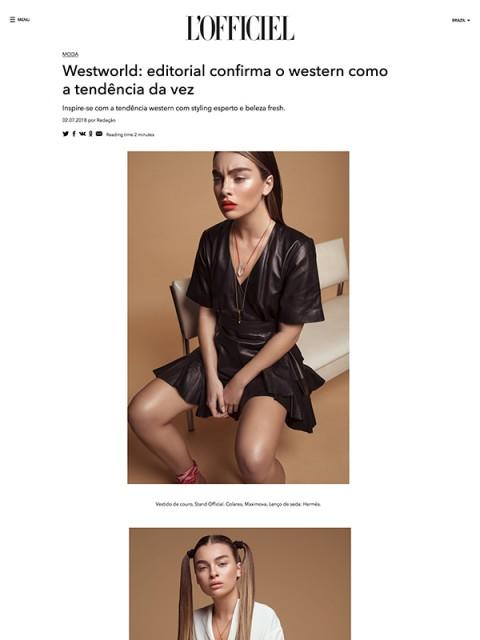 L'Officiel, July 2018